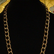 "Burnt Gold-Tone 36"" Curb-Link Chain"
