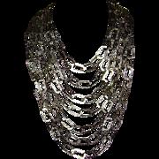 RJ Graziano Multi-Strand Silver-Tone Bib Style Necklace