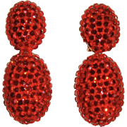 Richard Kerr Red Crystal Dangle Earrings