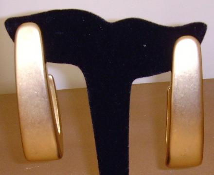 Matte Gold-Toned Large Dangle Earrings