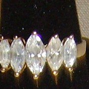 Cubic Zirconia and Gold-Toned Ring