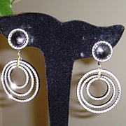 Triple Circle Dangle Earrings