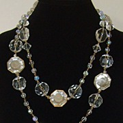 Lucite and Gold-Tone Sautoir Style Necklace