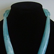 Guess Silver-Tone and Lucite Bohemian Necklace