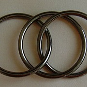 Gunmetal-Toned Inter-Locking Bracelets (Set of 3)