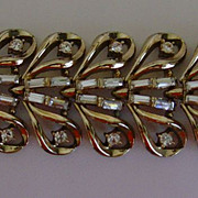 Napierⓒ Silver-Tone and Rhinestone Bracelet