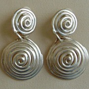 Matte Silver-Tone Dangle Earrings