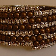R.J. Graziano Beaded and Rhinestone Bracelet