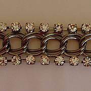 Gunmetal and Rhinestone Bracelet