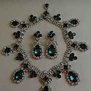 Robert Sorrell Rhinestone and Glass Necklace Set