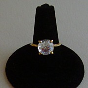 14 Karat Gold and Cubic Zirconia Ring