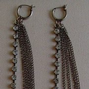 Antique Silver-Tone Shoulder Duster Earrings