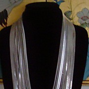 Silver-Tone 12 Strand Chain Necklace