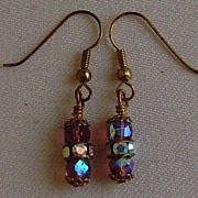 Aurora Borealis Dangle Pierced Earrings
