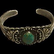 Harvey Era Navajo Sterling Turquoise Bracelet