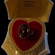 14K Rose Gold Victorian Hardstone Cameo Ring