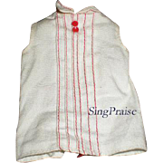 SOLD Skipper Barbie White Blouse with Red Stripes for School Girl #1921