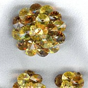Fabulous Crystals in Yellow & Topaz - Attributed to Vendome