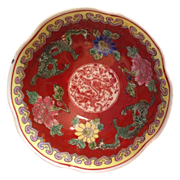 SOLD Chinese Porcelain Eggshell Bowl w/ 5 Toe Dragon - Red Tag Sale Item