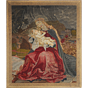 SALE Tapestry Portraying Madonna and Child