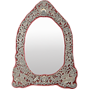 English Victorian Sterling Silver Easel Mirror by Fox