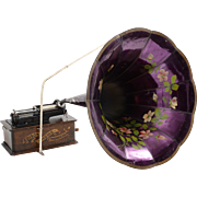 SALE Edison Home Phonograph with Morning Glory Horn