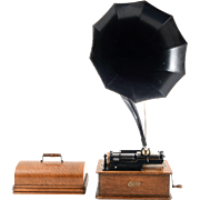 American Edison Home Phonograph with Cygnet Horn