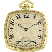 Swiss Open Face Pocket Watch by Black Starr & Frost