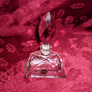 Hand Cut & Polish Glass Perfume Bottle With Stopper Tilso Japan