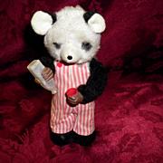 SALE Vintage Tin / Plush Wind Up Bear