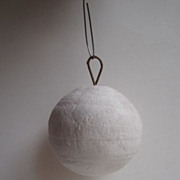 VINTAGE Spun Cotton SNOWBALL Christmas ornament