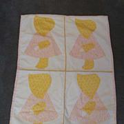 Vintage child's doll Sunbonnets quilt
