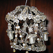 Larger size crystal miniature dollhouse antique chandelier small glass holders for candles