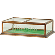 MONOPOL antique glass Tobacco display case