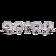 Antique German Christmas Santa Hot Air Balloon child's tea set