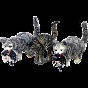 Vienna Bronze miniature cats or kittens