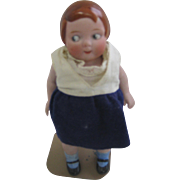 All bisque googly eye jointed doll