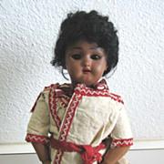 "Antique black Simon & Halbig #1079 bisque doll 8"""
