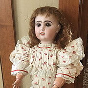 Antique Jumeau bisque doll 22""