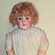 Large Kestner #154 bisque antique doll  28""