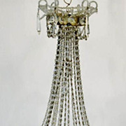 Antique  French miniature Louise XVI style 4 arm chandelier