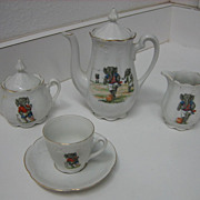 German Sporting Elephants antique toy tea set