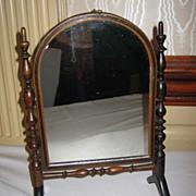 Large antique doll miniature furniture cheval mirror