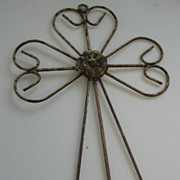 Vintage decorative metal shabby wall art cross