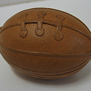 Antique German Dresden candy container Football