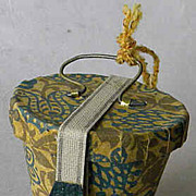 Antique candy container ornament German miniature hat box