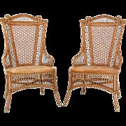 1880 39 s heywood wakefield ornate wicker parlor divan love for Victorian divan