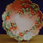 Antique Rosenthal Bowl decorated with Strawberries