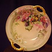 Vintage Limoges Blackberry Decorated bowl