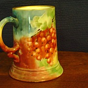 Antique Limoges Handpainted Mug decorated with Currants